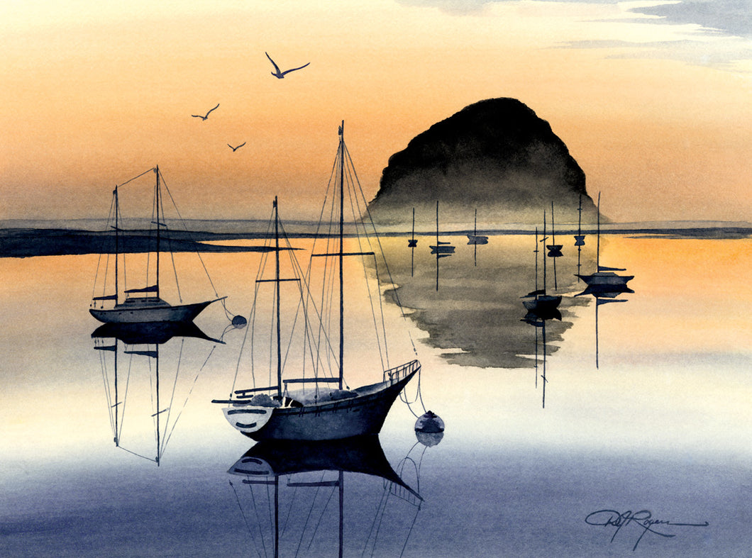 Evening at Morro Bay