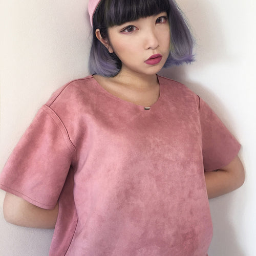 'Baby Tilda' Unisex Reversible Top - Blush/Pink