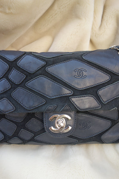 VINTAGE SUEDE LEATHER BAG BY CHANEL