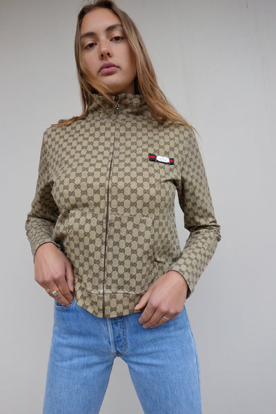 VINTAGE GUCCI ZIP TOP - MIISHKA Vintage Clothing