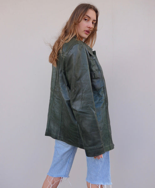 VINTAGE 70s LEATHER JACKET - MIISHKA Vintage Clothing