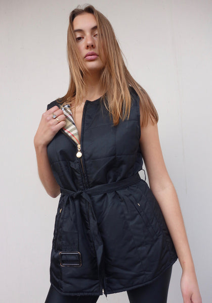 VINTAGE BURBERRY PUFFER VEST DRESS
