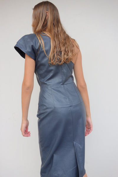 VINTAGE LEATHER DRESS - MIISHKA Vintage Clothing
