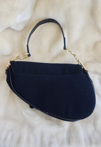 VINTAGE DIOR SADDLE BAG - MIISHKA Vintage Clothing