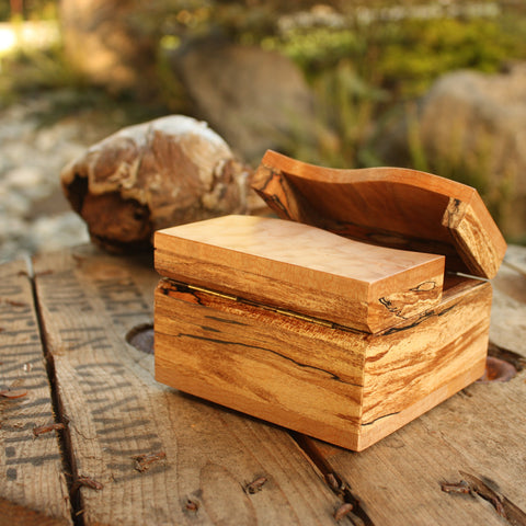 Split Lid Quilted & Spalted Maple Box