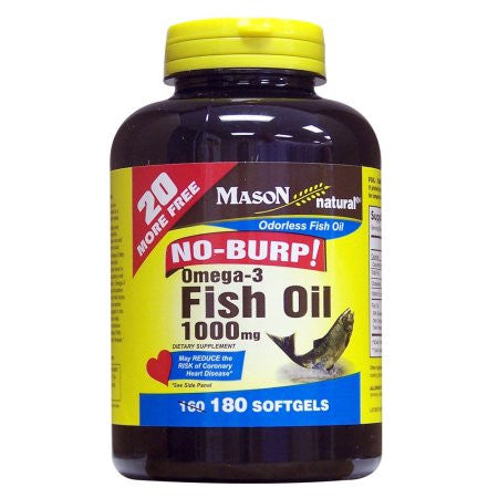 Mason Vitamins No Burp Fish Oil 180 count