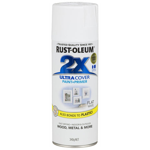 Rustoleum Ultra Cover 2X Flat Spray [product_vendor- Paint World Pty Ltd