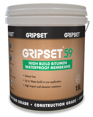 Gripset 59 High Build Bitumen - Gripset - Waterproofing - Paint World Stores