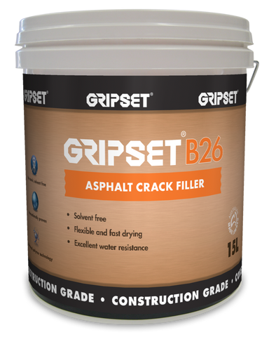 Gripset B26 Asphalt Crack Filler - Gripset - Waterproofing - Paint World Stores