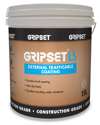 Gripset LS External Trafficable Coating - Gripset - Waterproofing - Paint World Stores