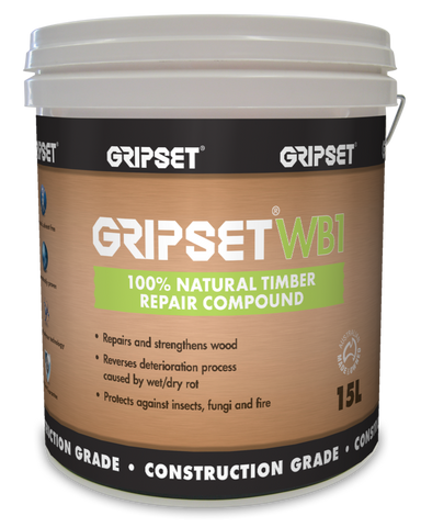 Gripset WB1 100% Natural Repair Compound - Gripset - Waterproofing - Paint World Stores