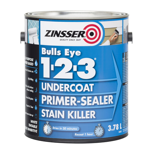 Zinsser Bulls Eye 1-2-3 Grey - Paint World Pty Ltd