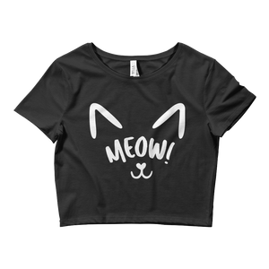 Meow! - Ladies Crop Tee - CutePetClub