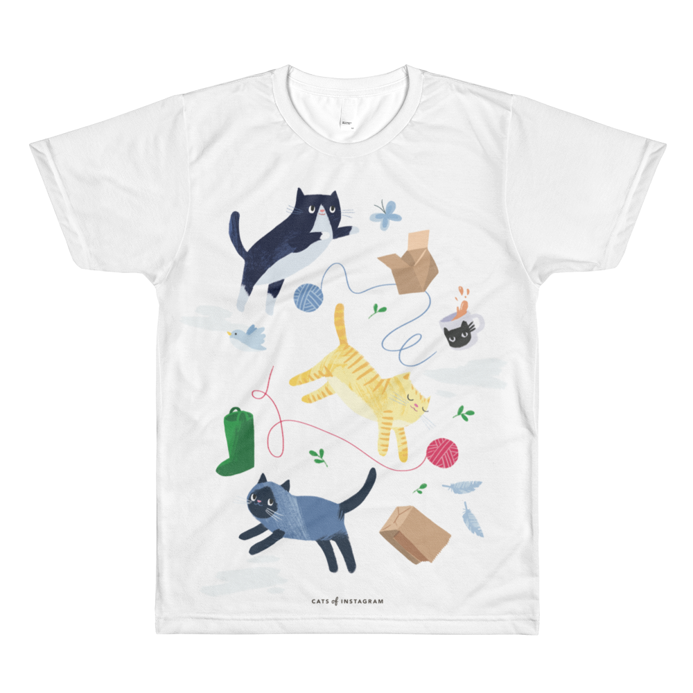 "Kittens & Things ""All Over Print"" Unisex Tee - CutePetClub"