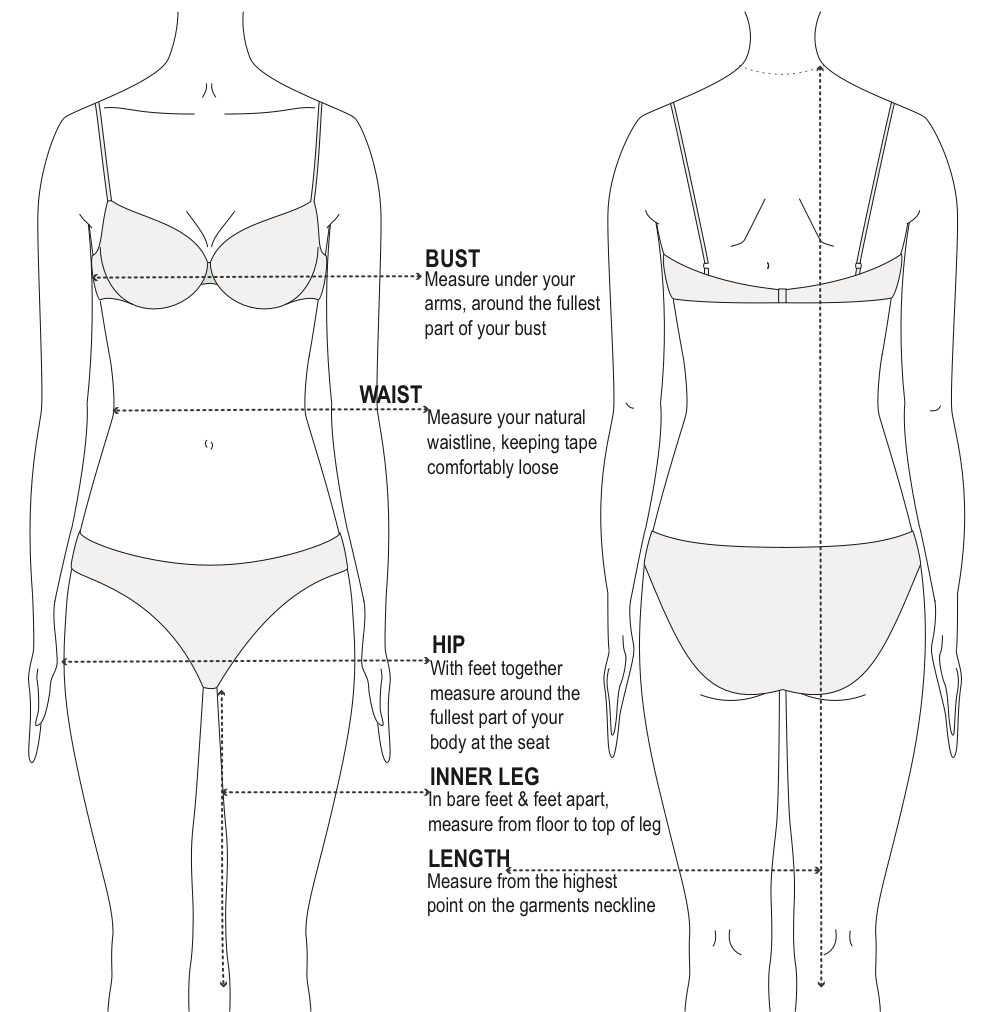 Tasi Travels - Women's Size Guide