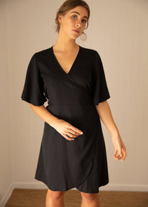 Wilder Wrap Dress Black