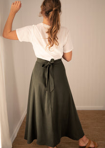 Wilder Wrap Skirt Moss