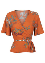 Load image into Gallery viewer, Wilder Wrap Blouse Native Floral