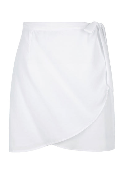 Wilder Wrap Mini Skirt White