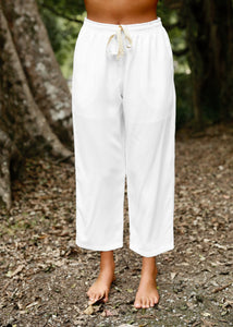 Somewhere Drawstring Pant White