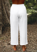 Load image into Gallery viewer, Somewhere Drawstring Pant White