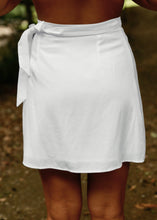 Load image into Gallery viewer, Wilder Wrap Mini Skirt White