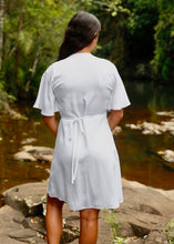 Load image into Gallery viewer, Wilder Wrap Dress White