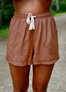 Somewhere Drawstring Short Clay