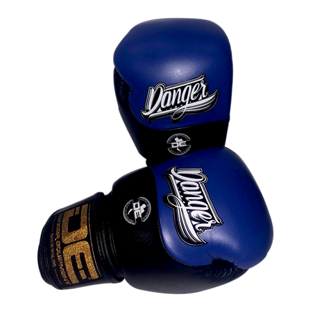 Boxing gloves DEBGE-008 Leather Blue/Black