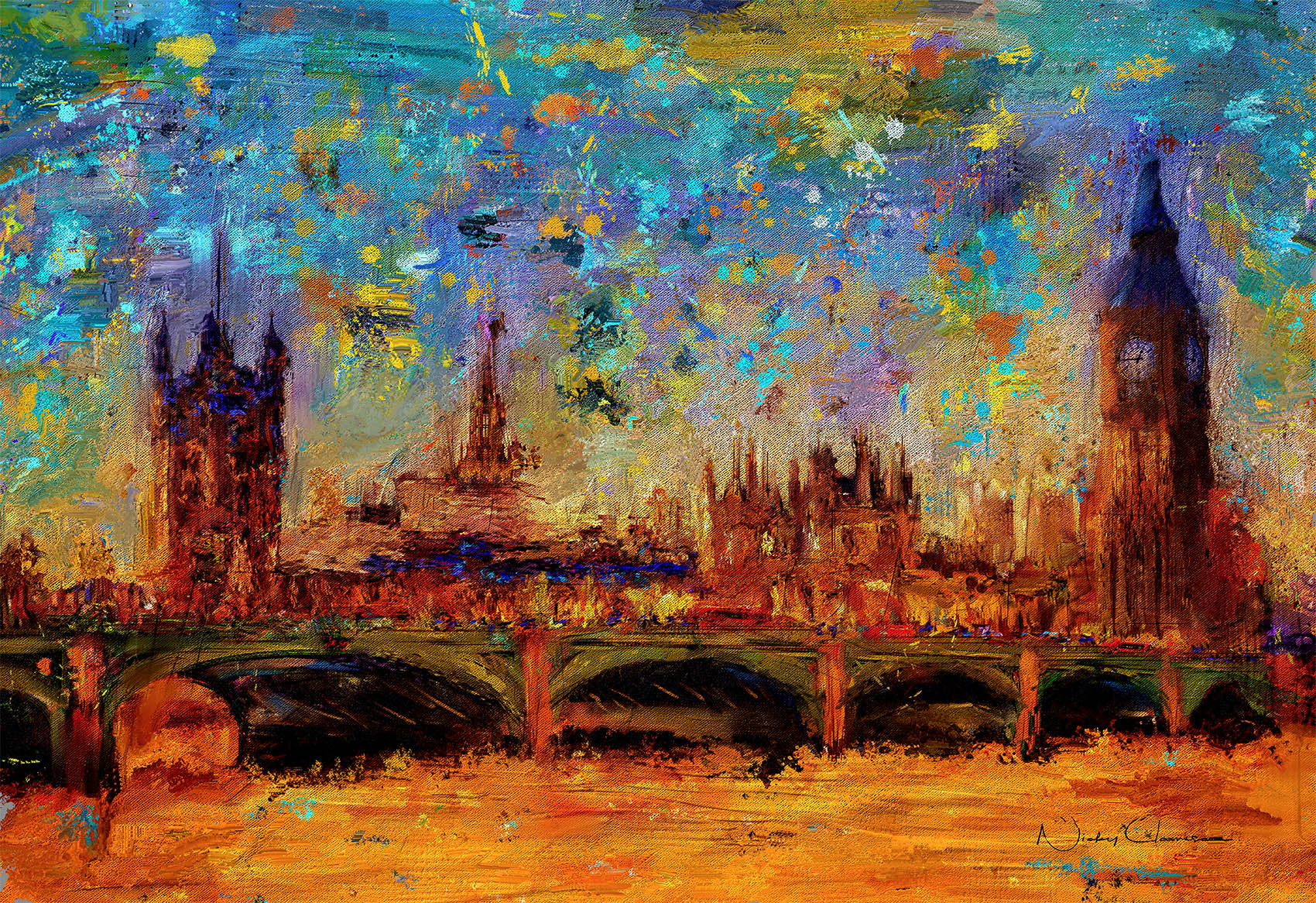 New Art In Store - Westminster Bridge and Houses of Parliament
