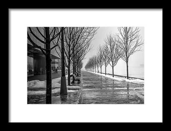Path Through Fog - Framed Print