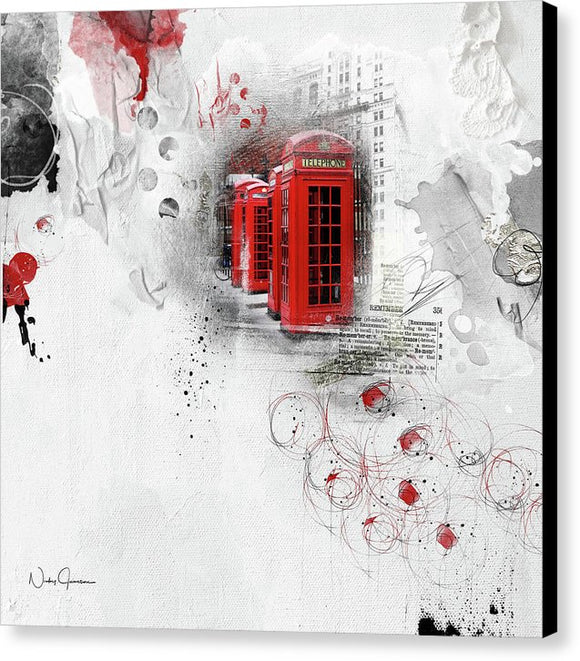 Timeless - London Red Telephone Boxes Canvas Print