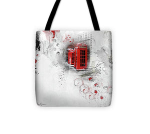 Timeless - London Red Telephone Box Tote Bag