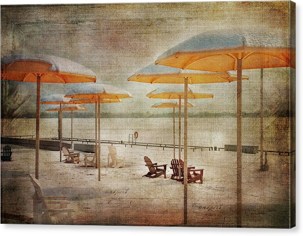 Yellow Parasols - Canvas Print