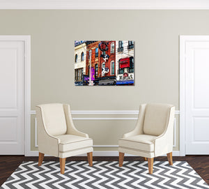 King St West Canvas Print in Room