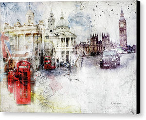 London A Sense Of Time - Canvas Print