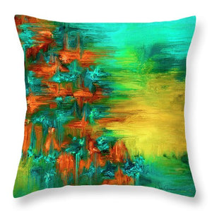 Abstract #4 - Throw Pillow