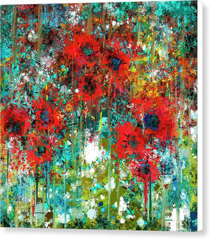 Poppies in a Field - Canvas Print
