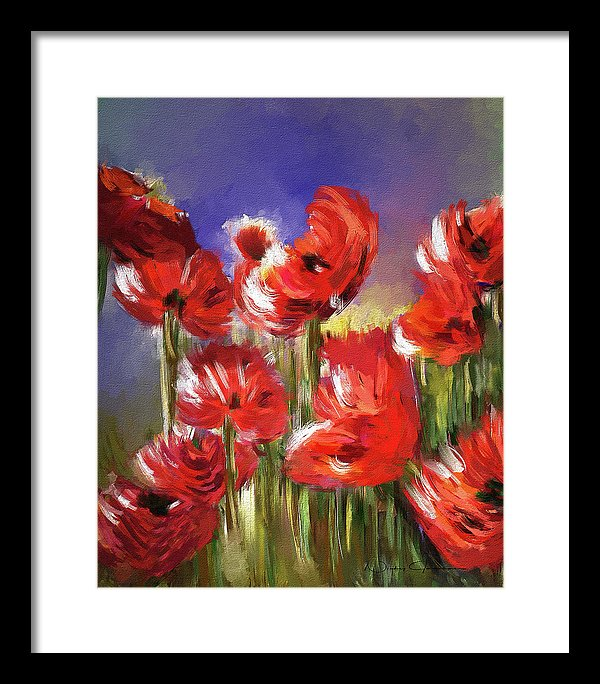 Abstract Poppies - Framed Print