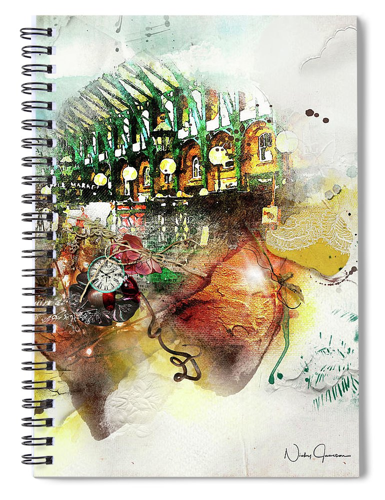 Apple Market - Covent Garden - Spiral Notebook