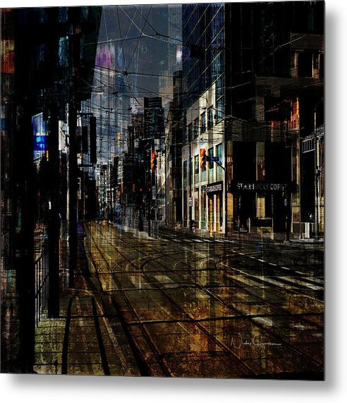 As The Sun Goes Down Toronto - Metal Print