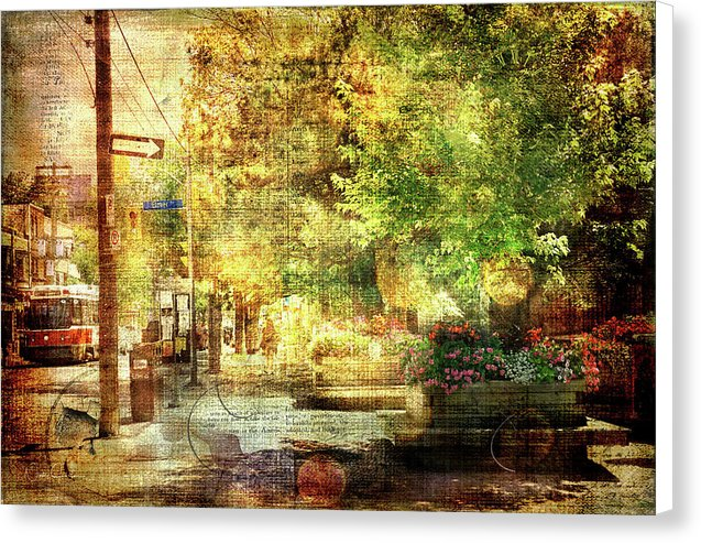 Beaches Village Street - Canvas Print