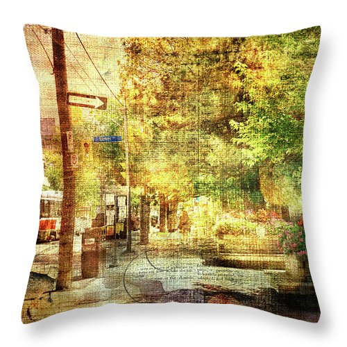 Beaches Village Street - Throw Pillow