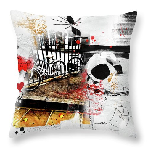 Bickycles In Lincoln's Inn - Throw Pillow