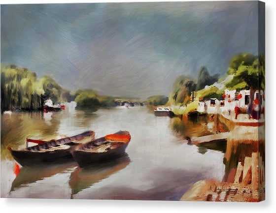 Boats On The River At Richmond II - Canvas Print