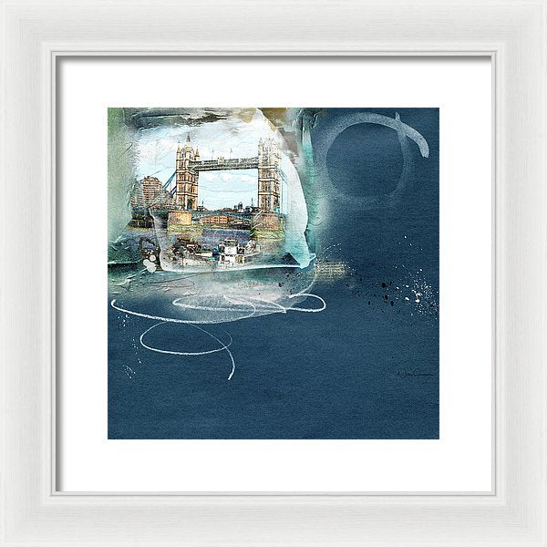tower bridge art by Nicky jameson framed print