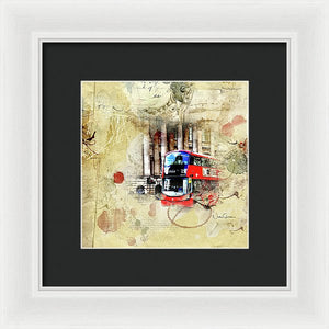 Bus Number 25 To Ilford Passing Mansion House - Framed Print