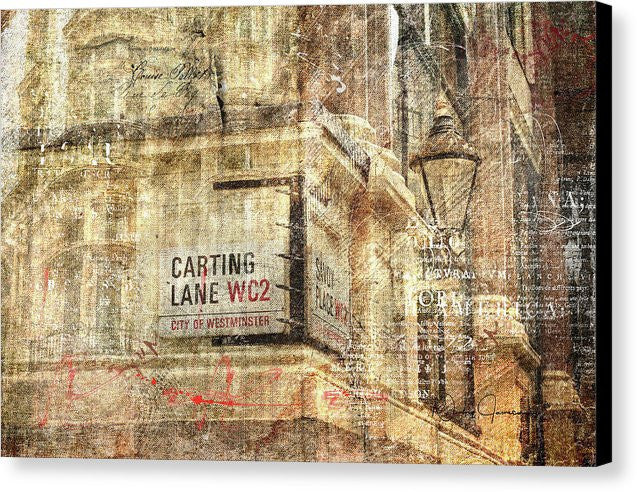 Carting Lane, Savoy Place - Canvas Print