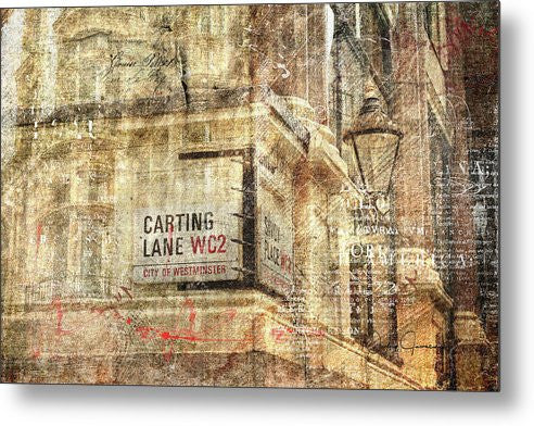 Carting Lane, Savoy Place - Metal Print