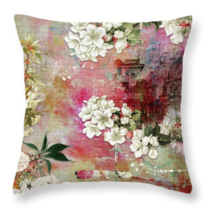 I Know The Cherry Blossom Will  Still Bloom - Throw Pillow